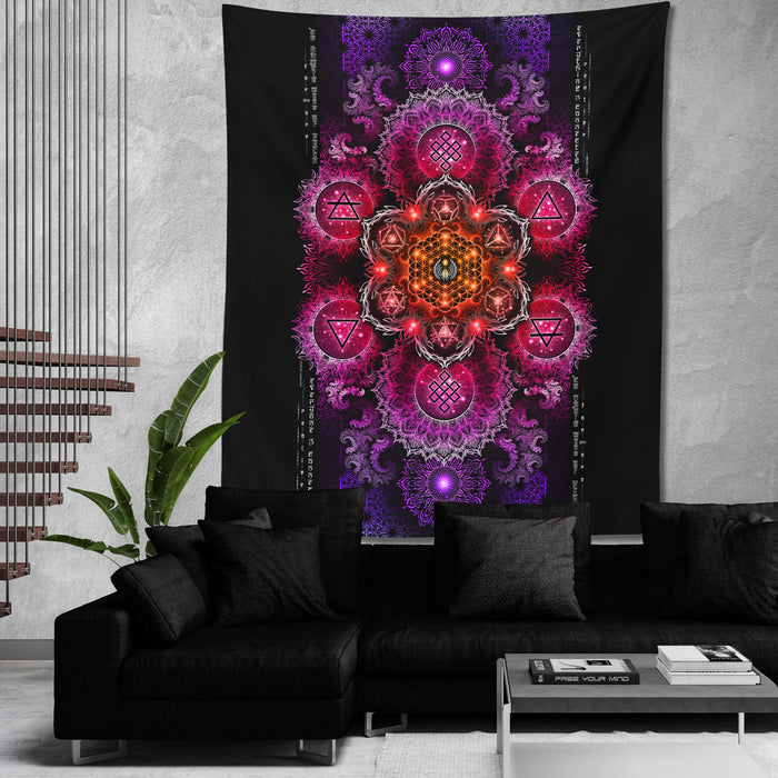 ETERNAL ALCHEMY V2.5 • YANTRART • Wall Tapestry Tapestry