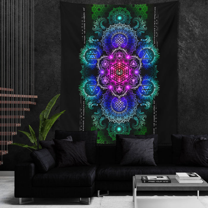ETERNAL ALCHEMY V2.3 • YANTRART • Wall Tapestry Tapestry