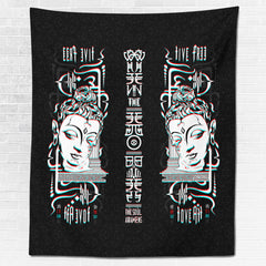 LIVE FREE LOVE ALL • Wall Tapestry Tapestry