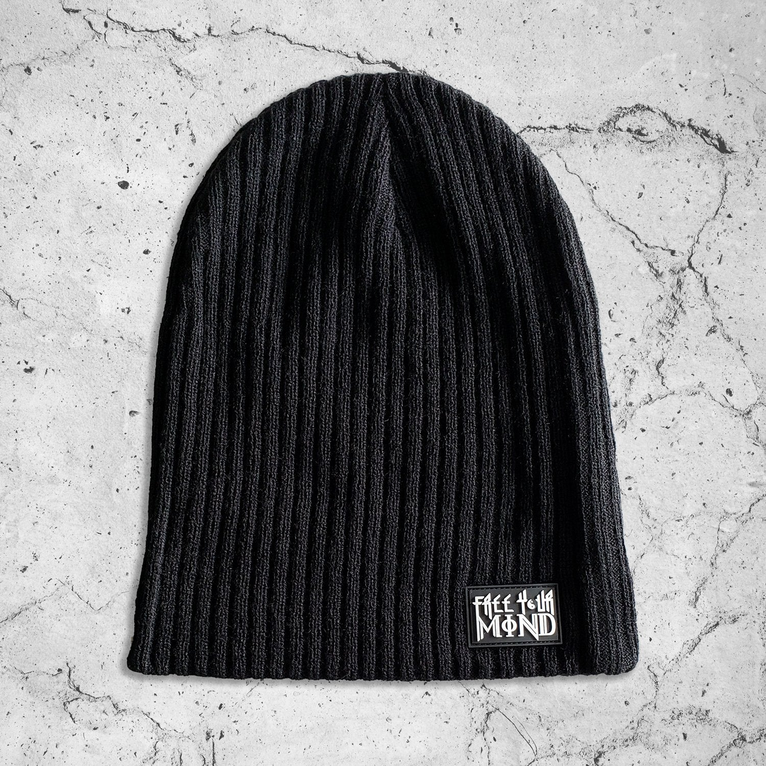 FREE YOUR MIND // Slouch Beanie w/ Rubber Molded Patch \\