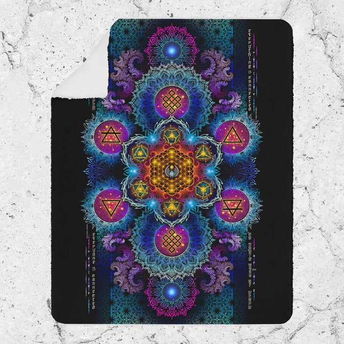 ETERNAL ALCHEMY V2 YANTRA ART • Sherpa Blanket Blanket