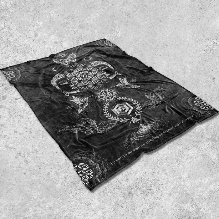 RESACRALIZATION V2 • Glenn Thomson Fleece Blanket Blanket