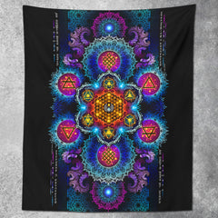 ETERNAL ALCHEMY V2 • YANTRA ART • Wall Tapestry Tapestry
