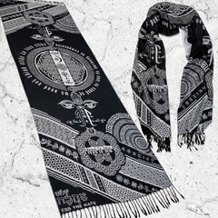 LOVE IS LAW • SILVER • Reversible Festival Shawl/Scarf