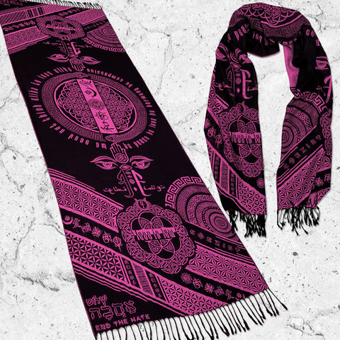 LOVE IS LAW • NEON PINK • Reversible Festival Shawl/Scarf
