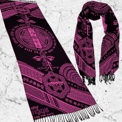 LOVE IS LAW • NEON PINK • Reversible Festival Shawl/Scarf Shawls