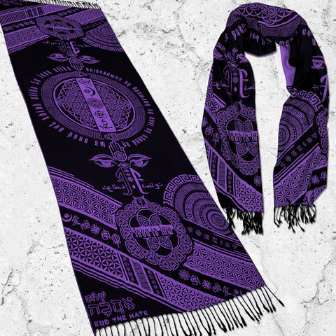 LOVE IS LAW • INDIGO • Reversible Festival Shawl/Scarf