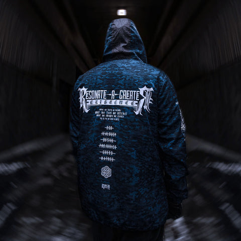 MANTRA V2 // All-Season Blue Camo \\ Hooded Pullover Windbreaker