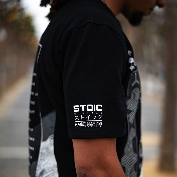 MEDITATIONS • STOIC DIGITAL • Luxury Fabric Droptail T-shirt Apparel