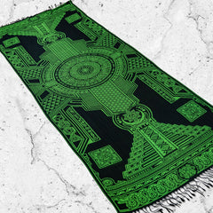 PRE-ORDER • TRANSCENDENCE • NUCLEAR GREEN • GROKKO • UV-Reactive Reversible Festival Shawl/Scarf Shawls