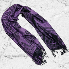 MANTRA • PURPLE HAZE VARIANT // Reversible Festival Shawl / Scarf