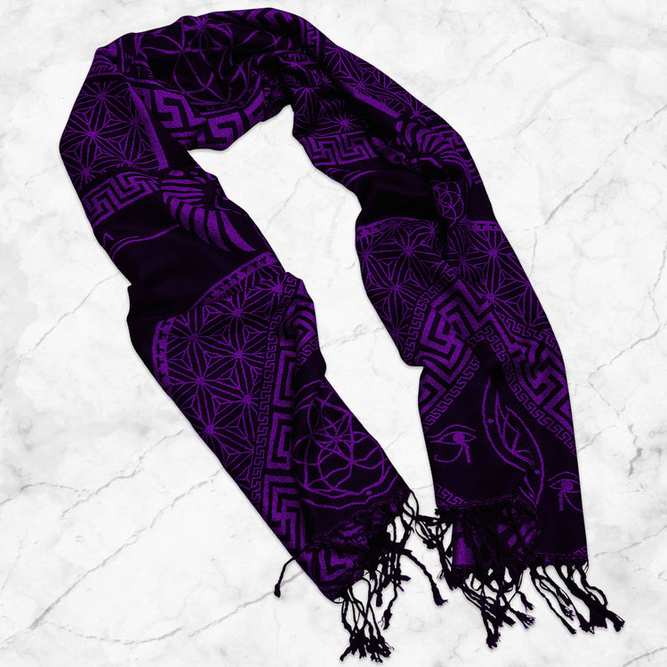 DREAM AWAKE • DARK FUCHSIA • Reversible Festival Shawl/Scarf Shawls