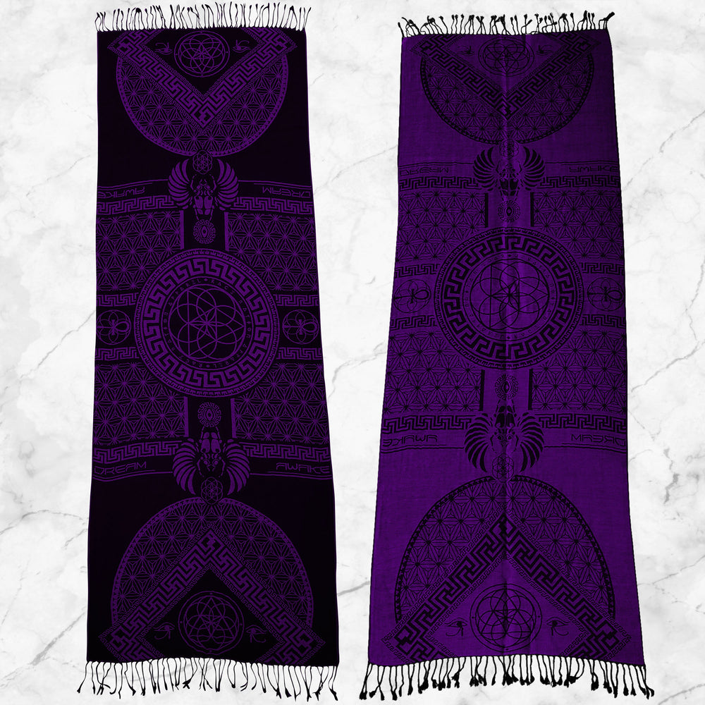 DREAM AWAKE • DARK FUCHSIA • Reversible Festival Shawl/Scarf