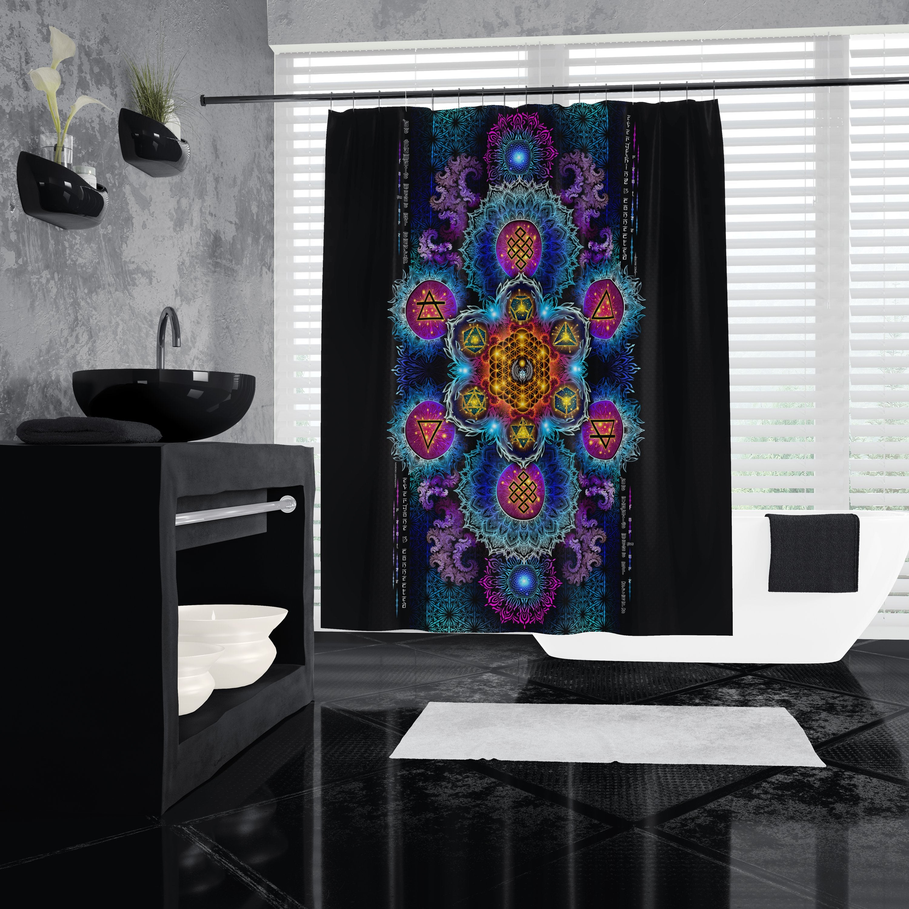 ETERNAL ALCHEMY V2 YANTRA ART • Shower Curtain