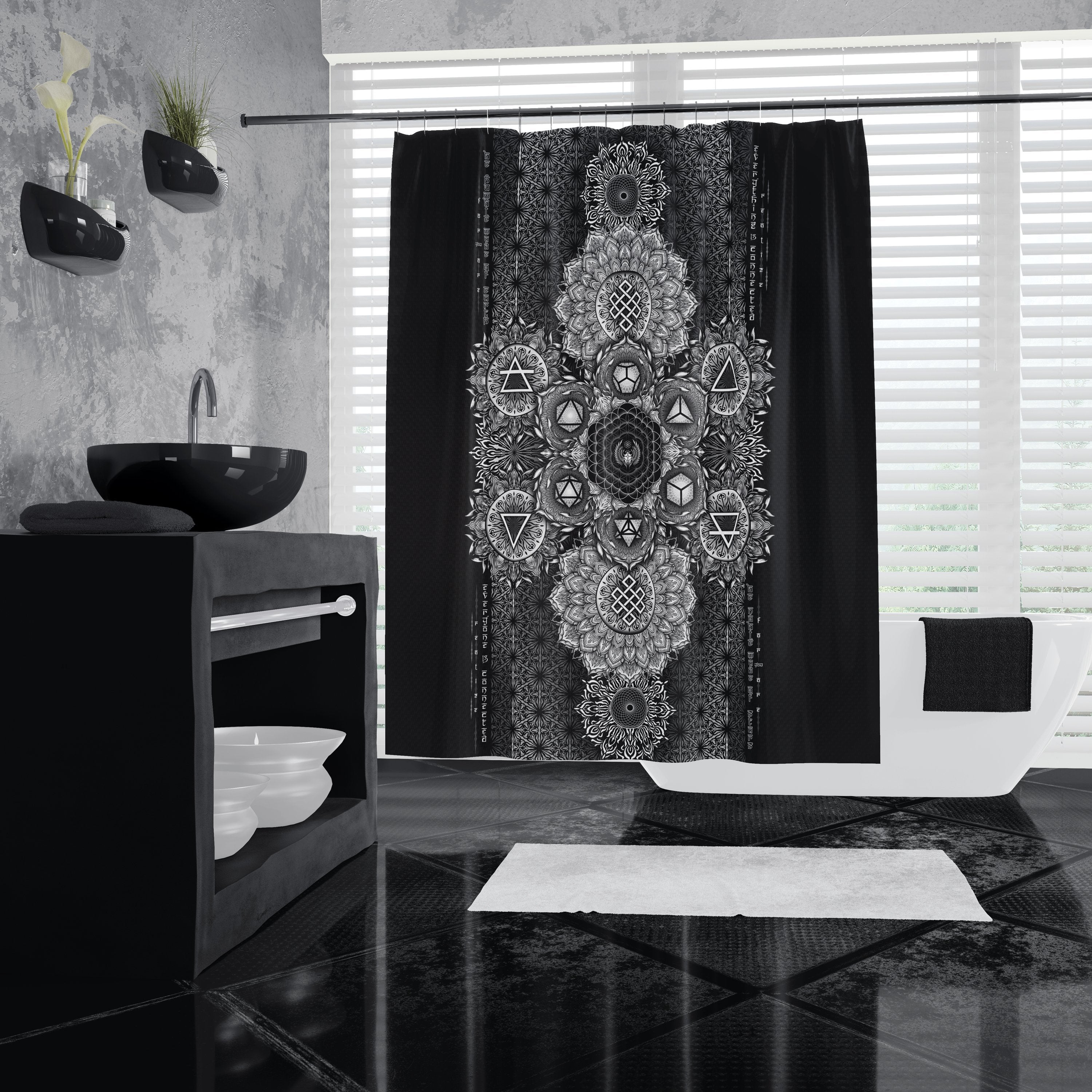 ETERNAL ALCHEMY V1 YANTRA ART • Shower Curtain