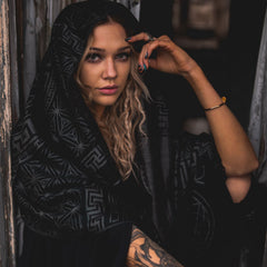 DREAM AWAKE • SMOKE VARIANT // Reversible Festival Shawl / Scarf