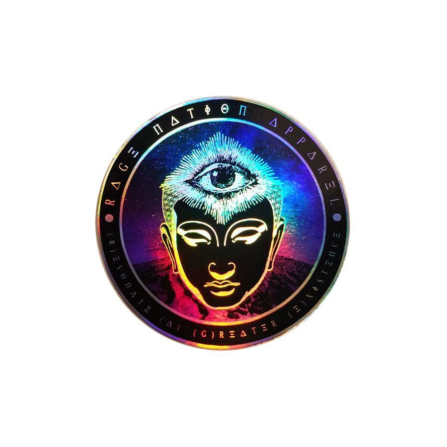 THIRD EYE BUDDHA - Holographic Sticker