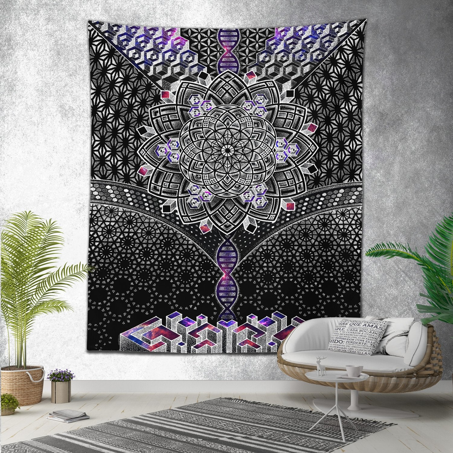 ONENESS GALAXY • Glenn Thomson Wall Tapestry