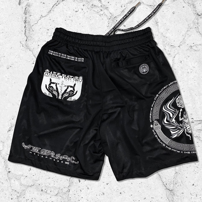 VISUAL METAPHORS • Reversible Activewear Graphic Shorts Shorts