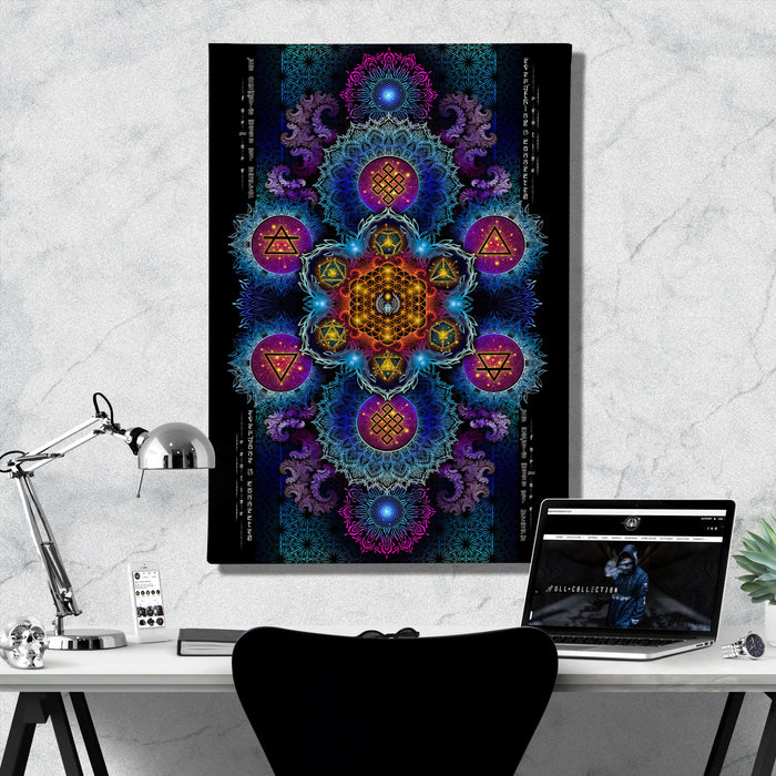 ETERNAL ALCHEMY V2 • YANTRART • Limited Edition • Canvas Wrap Canvas