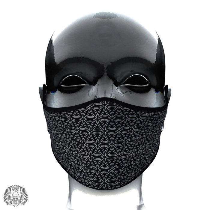 PRE-ORDER • FLOWER OF LIFE • Satin Face Mask + Filters Mask