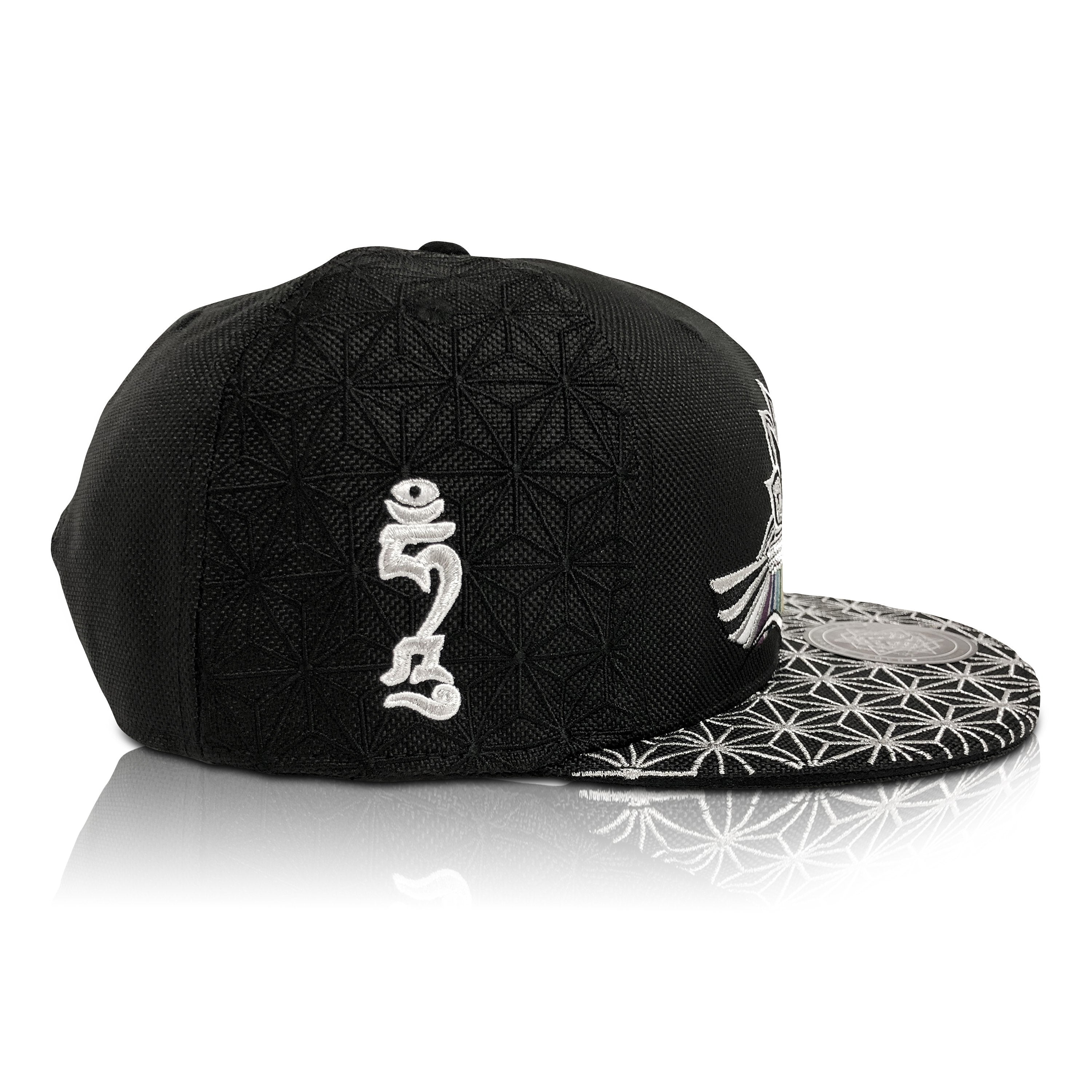 44fd50e3918ae I AM    Purple Blue Festival Hat with Winged Serpents - Rage Nation
