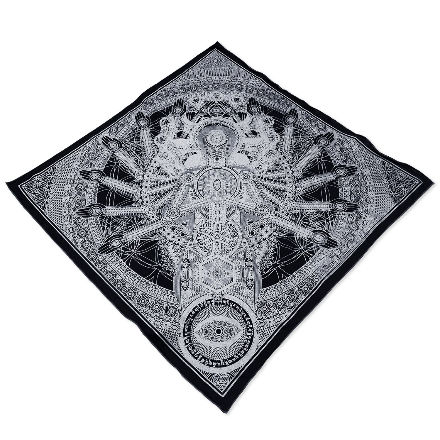 RESTOCKING SOON \\ DIRECT CONTACT // Silver Crystal Infused Ink Bandana