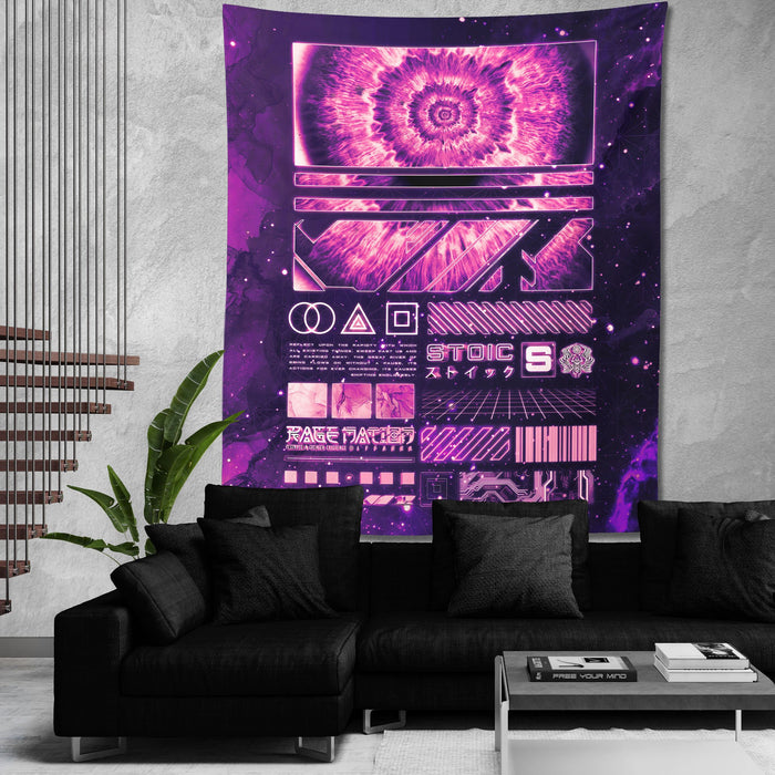 ENDLESS SHIFT V2 • STOIC DIGITAL • Wall Tapestry Tapestry