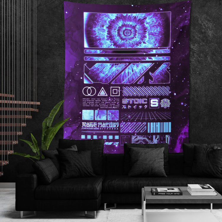 ENDLESS SHIFT V3 • STOIC DIGITAL • Wall Tapestry Tapestry