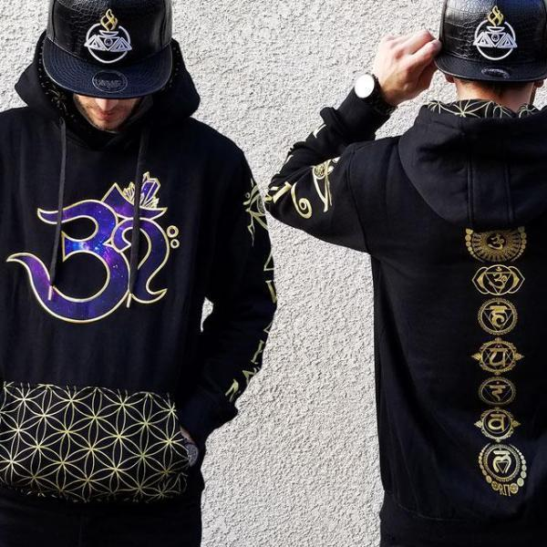 V2 AWAKEN OМ // Metallic Gold Galaxy // Unisex Hoodie