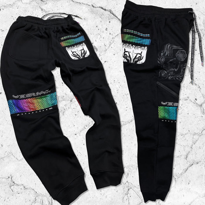 VISUAL METAPHORS V2 • RAINBOW • Hidden Pocket Joggers Joggers