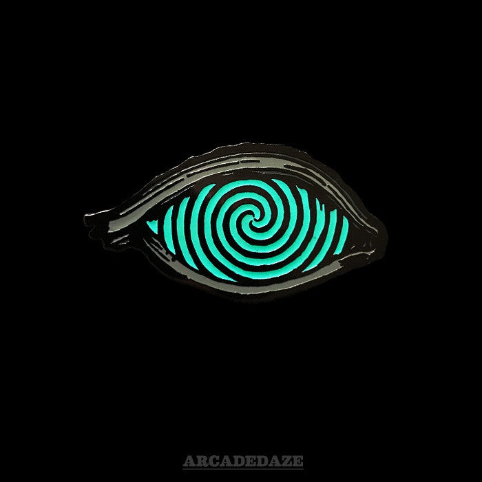 Arcadedaze Third Eye Psychedelic Blue Glow in the Dark Enamel Pin