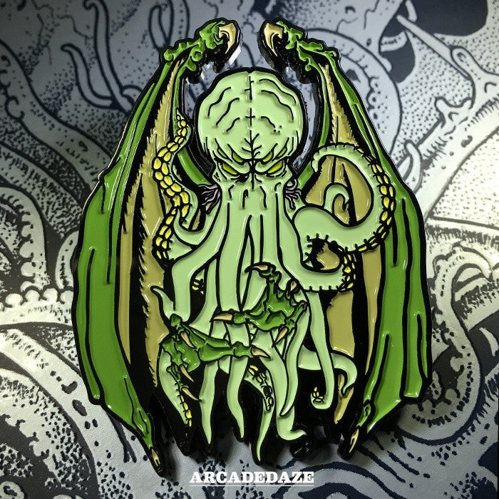 cthulhu lovecraft enamel lapel pin