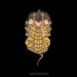 alien facehugger lapel pin arcadedaze