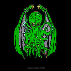 Cthulhu Lovecraft Enamel Lapel Pin by Arcadedaze