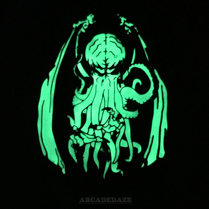 cthulhu glow in the dark lovecraft enamel lapel pin