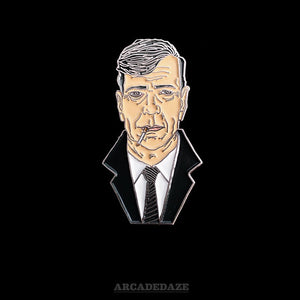 x-files lapel pin smoking man