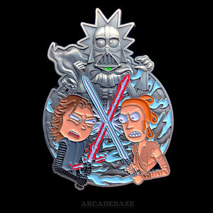 Rick and Morty Star Wars Enamel Lapel Pin The Last Jedi