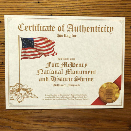 Star-Spangled Banner -15 stars, 15 stripes - Flown over Fort McHenry July 26, 2019 from The History List Store
