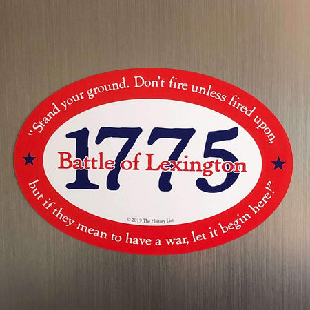 """1775 Battle of Lexington"" Magnet from The History List Store"