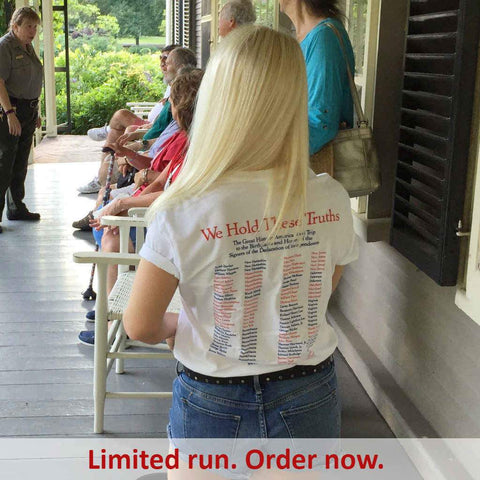 """1776 Historic America Road Trip to the Birthplaces and Homes of the Signers of the Declaration of Independence"" T-Shirt"