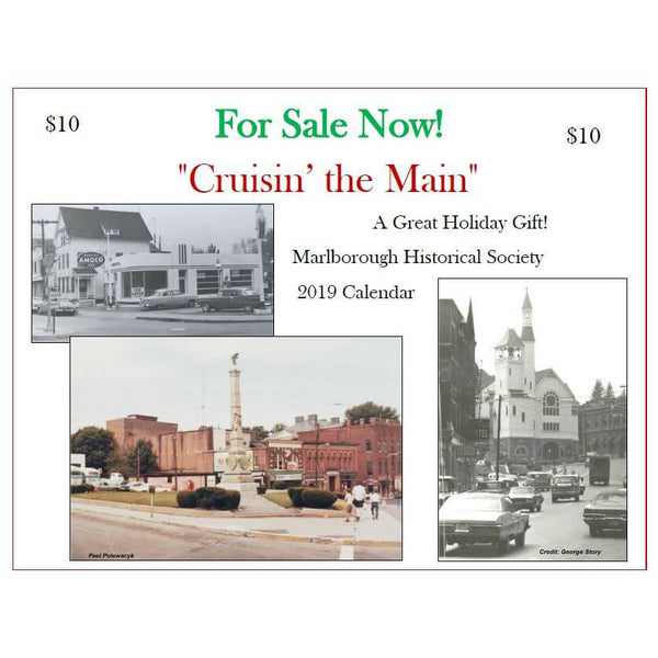 2019 Marlborough Historical Society Calendar from The History List Store