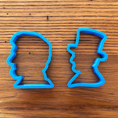 Abraham Lincoln Cookie cutters - Set of 2