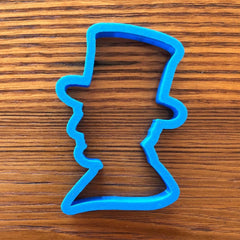 Abraham Lincoln in a top hat Cookie cutter