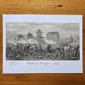 """Battle of Lexington 1775"" Archival print"