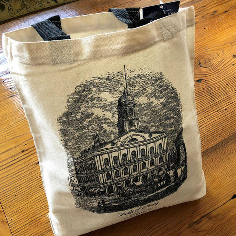 "Faneuil Hall ""Cradle of Liberty"" tote bag from Edes & Gill from The History List Store"