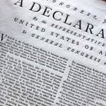 """Declaration of Independence"" from the Printing Office of Edes & Gill in Boston"
