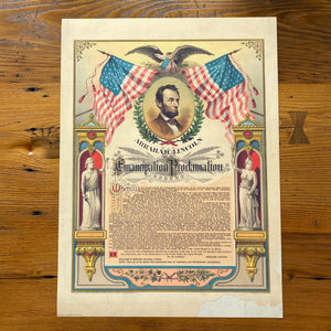 Abraham Lincoln and the Emancipation Proclamation — Archival print available for a limited time
