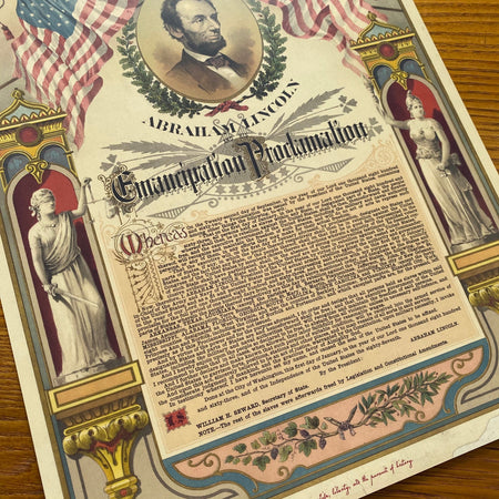 Emancipation Proclamation Small Print Angled view