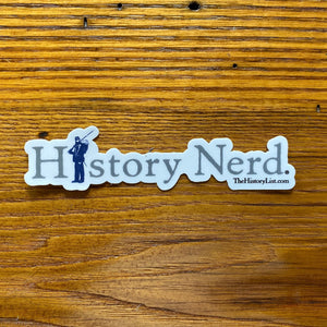 "Civil War ""History Nerd"" sticker"